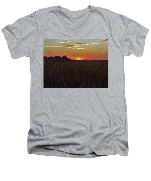 Sunset In The Badlands Men's V-Neck T-Shirt