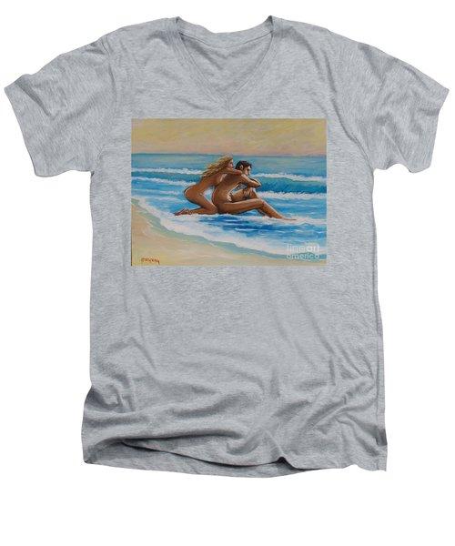 Sunset In The Beach Men's V-Neck T-Shirt