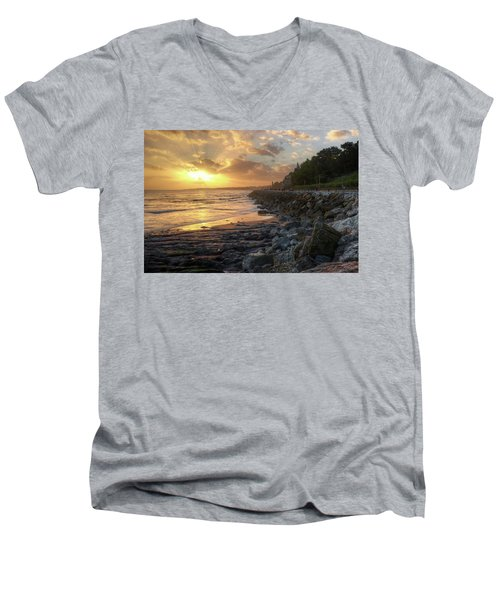 Men's V-Neck T-Shirt featuring the photograph Sunset In The Coast by Carlos Caetano