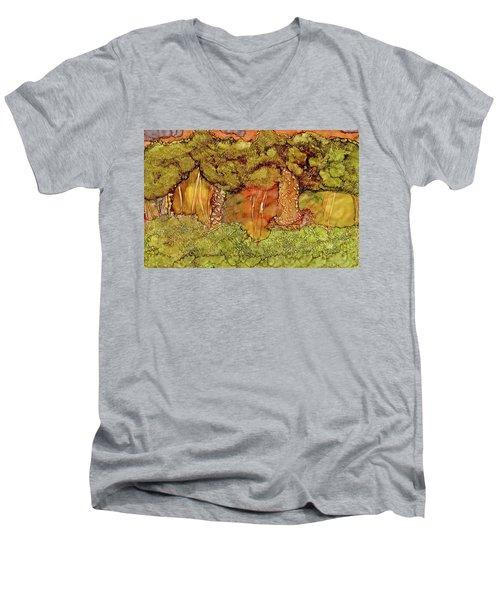 Sunset In The Forest Men's V-Neck T-Shirt