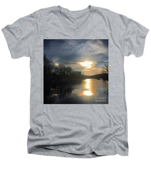 Sunset  Men's V-Neck T-Shirt by Jason Nicholas