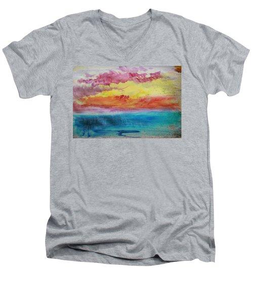Sunset Lagoon Men's V-Neck T-Shirt