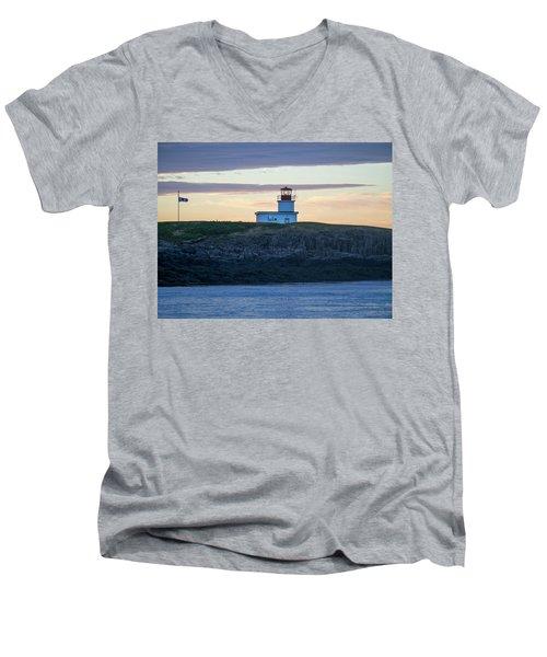 Sunset Nova Scotia  Men's V-Neck T-Shirt by Trace Kittrell
