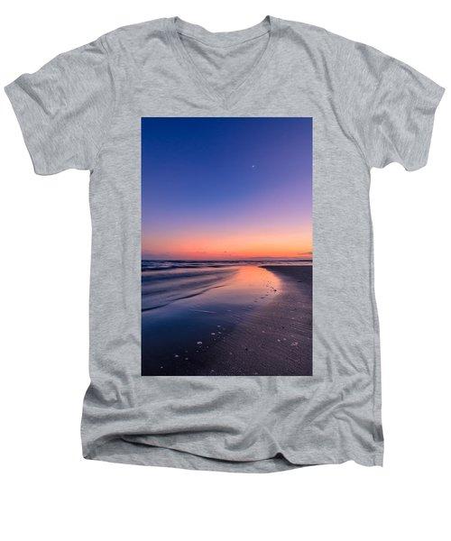 Sunset, Old Saybrook, Ct Men's V-Neck T-Shirt by Craig Szymanski
