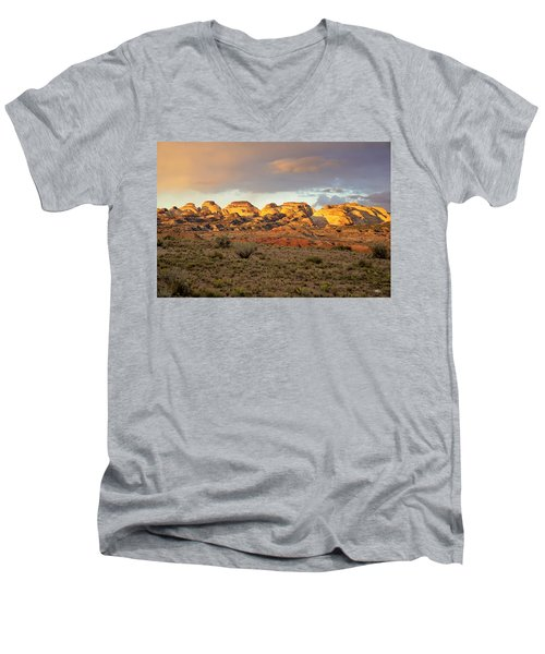 Sunset On Capitol Reef Men's V-Neck T-Shirt
