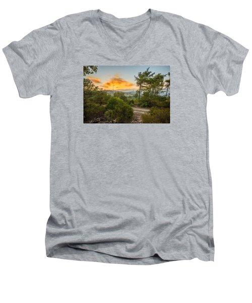 Sunset On Carmel Mountain 2 Men's V-Neck T-Shirt