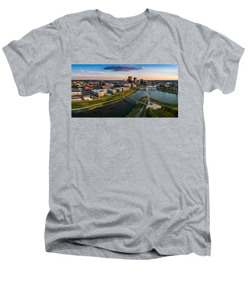 Sunset On Dayton Men's V-Neck T-Shirt