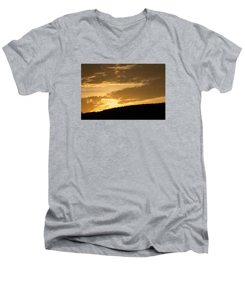 Men's V-Neck T-Shirt featuring the photograph Sunset On Hunton Lane #4 by Carlee Ojeda