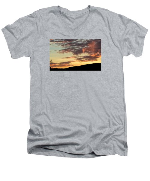 Men's V-Neck T-Shirt featuring the photograph Sunset On Hunton Lane #6 In The Company Of Angels by Carlee Ojeda