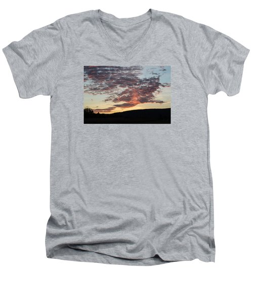 Men's V-Neck T-Shirt featuring the photograph Sunset On Hunton Lane #9 by Carlee Ojeda