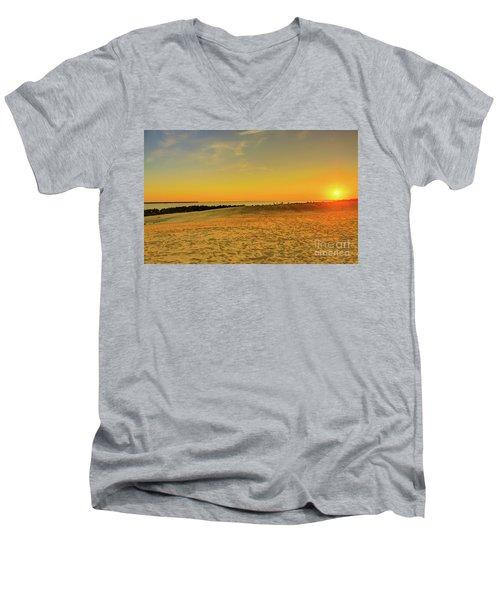 Sunset On Jockey Ridge Men's V-Neck T-Shirt