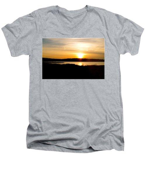 Sunset On Morrison Beach Men's V-Neck T-Shirt