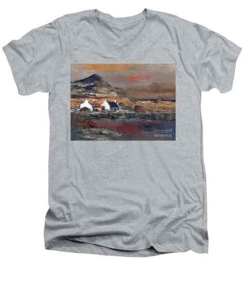 Sunset On Mount Errigal, Dunegal Men's V-Neck T-Shirt