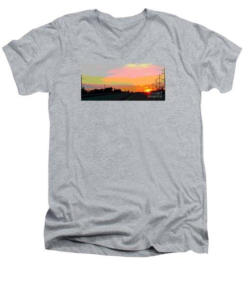 Sunset On Ol' 66 Men's V-Neck T-Shirt