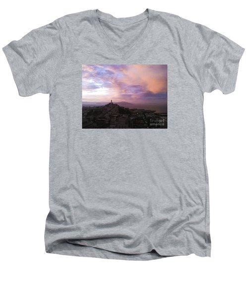Sunset On The Bay Men's V-Neck T-Shirt