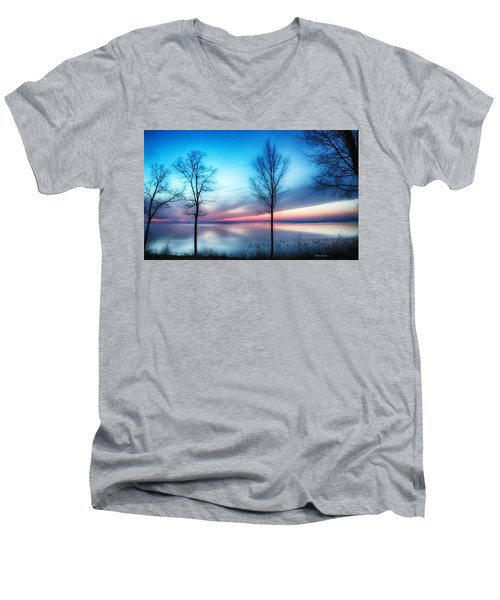 Sunset On The Diagonal Men's V-Neck T-Shirt