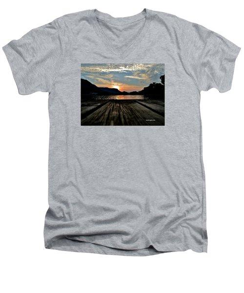 Sunset On The Dock Men's V-Neck T-Shirt
