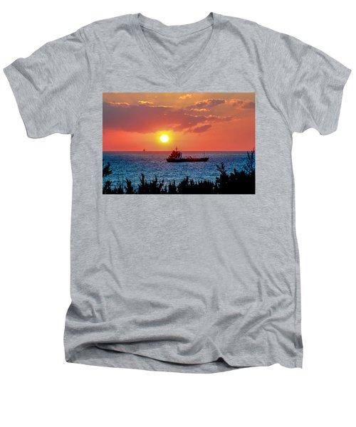 Sunset On The Horizon Men's V-Neck T-Shirt
