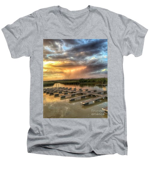 Sunset On The Marsh Men's V-Neck T-Shirt