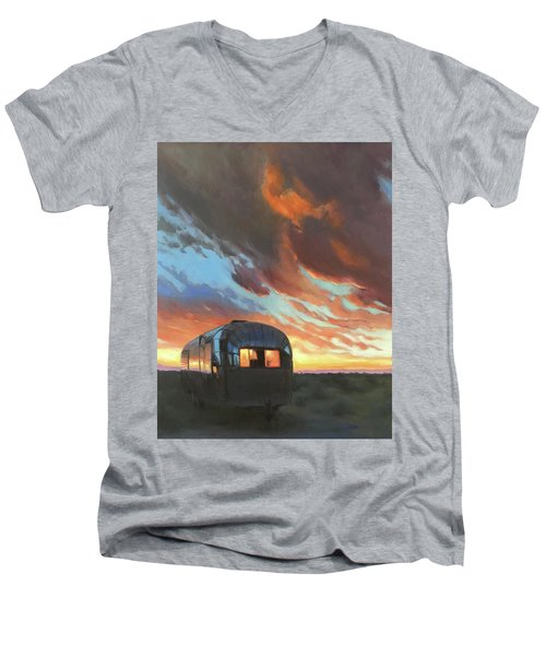 Sunset On The Mesa Men's V-Neck T-Shirt