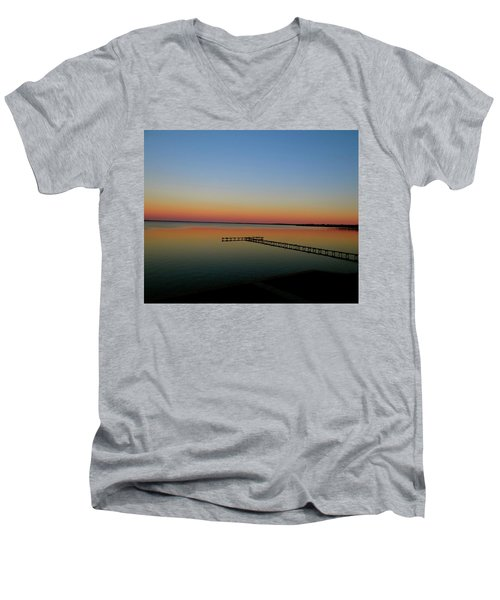 Sunset On The Pier Men's V-Neck T-Shirt