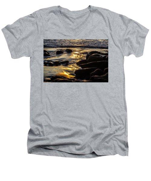 Sunset On The Rocks Men's V-Neck T-Shirt