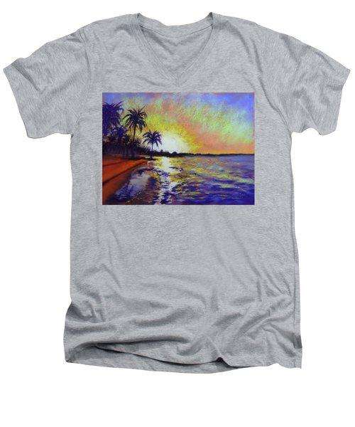 Sunset On The Sea Men's V-Neck T-Shirt