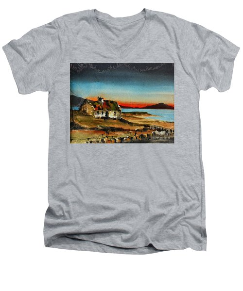 F 707 Inishfree Bay Near Ardra, Donegal.. Men's V-Neck T-Shirt