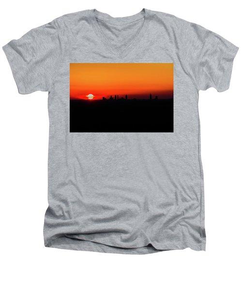 Sunset Over Atlanta Men's V-Neck T-Shirt