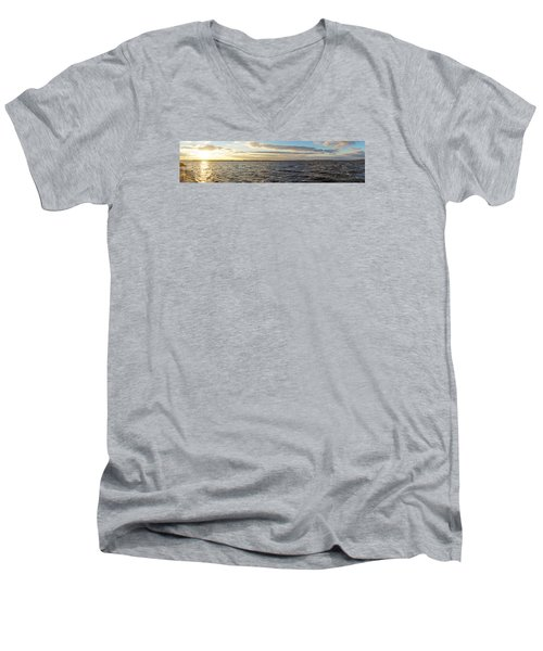 Sunset Over Cape Fear River Men's V-Neck T-Shirt