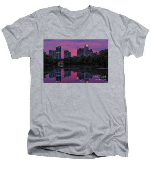 Sunset Over Midtown Men's V-Neck T-Shirt