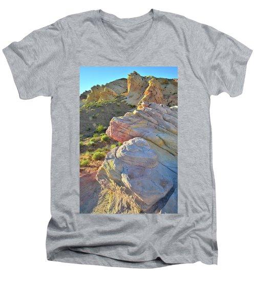 Sunset Pastels In Valley Of Fire Men's V-Neck T-Shirt