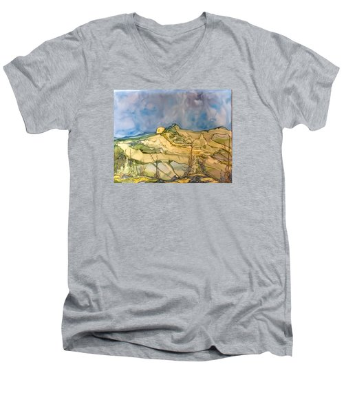 Sunset Men's V-Neck T-Shirt by Pat Purdy