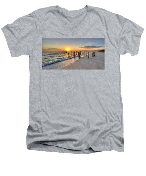 Sunset Pilings Men's V-Neck T-Shirt