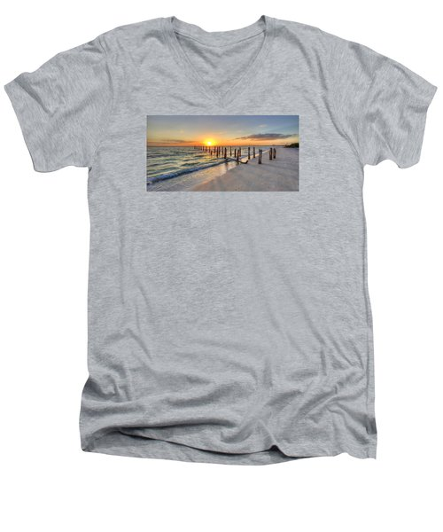 Sunset Pilings Men's V-Neck T-Shirt
