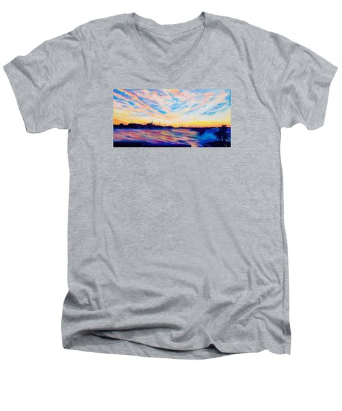 Sunset Point Men's V-Neck T-Shirt
