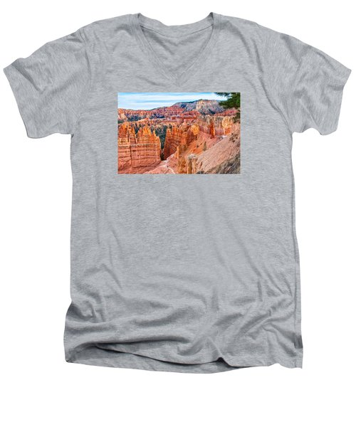 Men's V-Neck T-Shirt featuring the photograph Sunset Point Tableau by John M Bailey