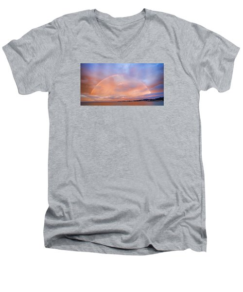 Sunset Rainbow Men's V-Neck T-Shirt
