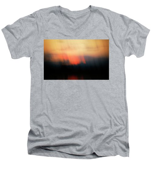 Men's V-Neck T-Shirt featuring the photograph Sunset Raining Down by Marilyn Hunt