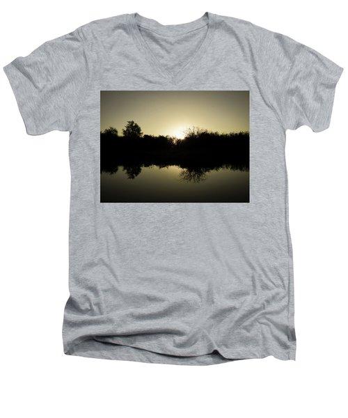 Sunset Reflecting On Water Men's V-Neck T-Shirt