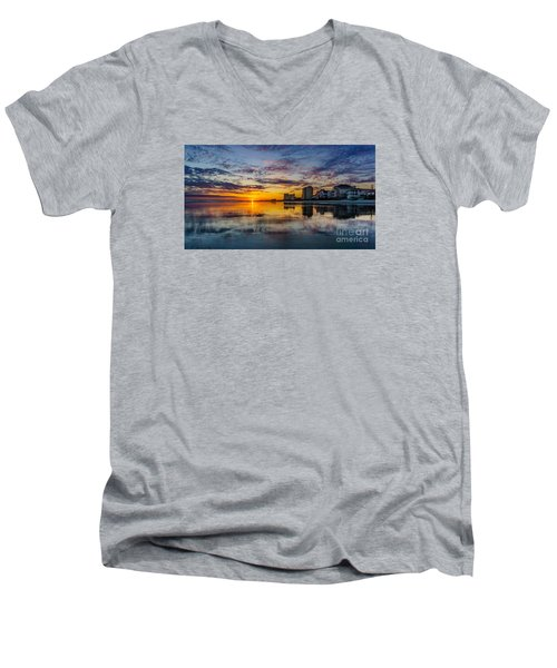 Sunset Reflection Men's V-Neck T-Shirt by David Smith