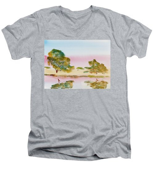 Reflections At Sunrise Men's V-Neck T-Shirt