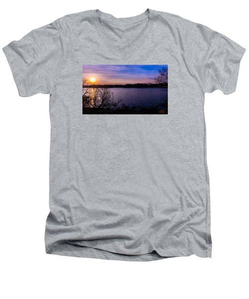Sunset River Men's V-Neck T-Shirt