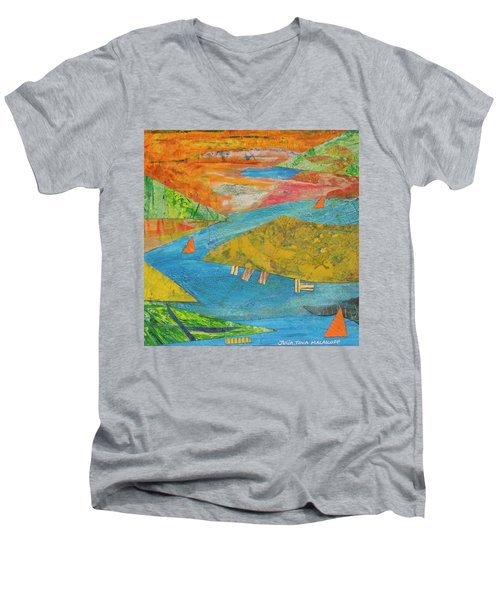 Sunset Sails 1 Men's V-Neck T-Shirt