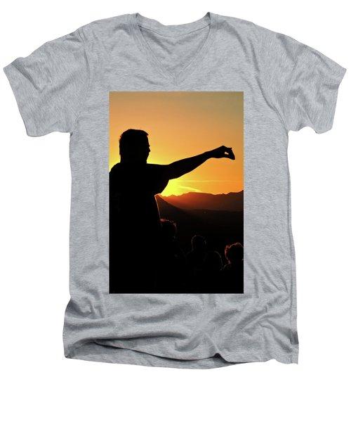 Sunset Silhouette Men's V-Neck T-Shirt