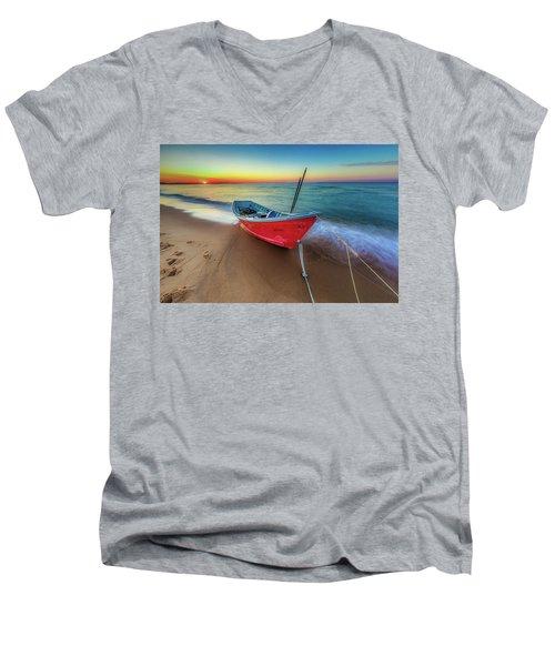 Sunset Skiff Men's V-Neck T-Shirt