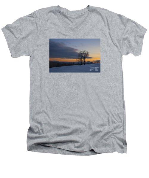 Sunset Solitude Men's V-Neck T-Shirt by Alana Ranney