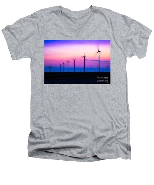 Sunset Spinning Men's V-Neck T-Shirt