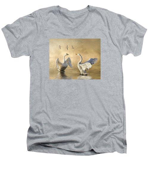 Sunset Squabble Men's V-Neck T-Shirt