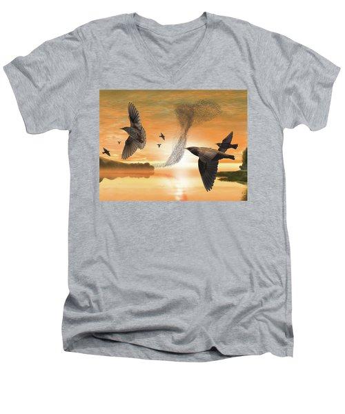 Murmuration Men's V-Neck T-Shirt